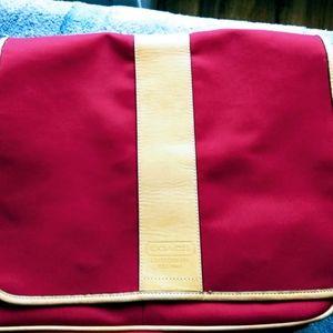 Coach red travel bag - laptop bag-  shoulder bag